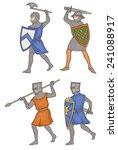 manuscript knights facing left | Shutterstock .eps vector #241088917