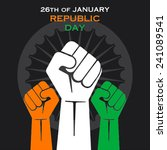 happy republic day greeting... | Shutterstock .eps vector #241089541