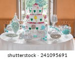 dessert table with cake and... | Shutterstock . vector #241095691