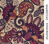 paisley floral seamless pattern ... | Shutterstock .eps vector #241106944