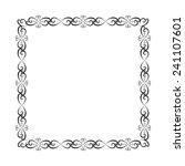 vector ornamental black frame | Shutterstock .eps vector #241107601