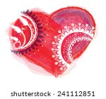 illustration with heart and... | Shutterstock . vector #241112851