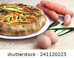 italian savoury pie with... | Shutterstock . vector #241120225
