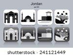 landmarks of jordan. set of... | Shutterstock .eps vector #241121449