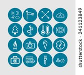 set of simple icons for camping ... | Shutterstock .eps vector #241123849