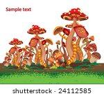 mushrooms | Shutterstock .eps vector #24112585