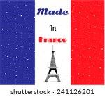 black eiffel tower  france flag ... | Shutterstock .eps vector #241126201