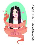valentine's day greeting card.... | Shutterstock .eps vector #241128259