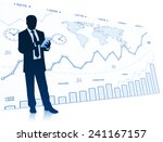successful businessman with... | Shutterstock .eps vector #241167157