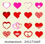 happy valentines day cards with ... | Shutterstock .eps vector #241171669