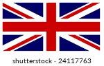 British Flag With Exact...