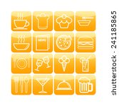 set of simple icons for bar ... | Shutterstock .eps vector #241185865