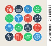set of simple icons for bar ... | Shutterstock .eps vector #241185889