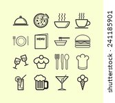 set of simple icons for bar ... | Shutterstock .eps vector #241185901