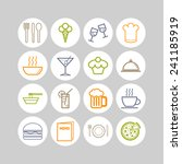 set of simple icons for bar ... | Shutterstock .eps vector #241185919