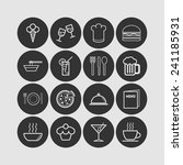 set of simple icons for bar ... | Shutterstock .eps vector #241185931