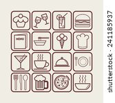 set of simple icons for bar ... | Shutterstock .eps vector #241185937