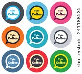 take a coffee sign icon. coffee ... | Shutterstock .eps vector #241188535