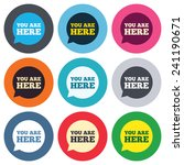 you are here sign icon. info... | Shutterstock .eps vector #241190671