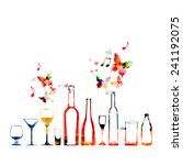 Colorful Design With Bottles...