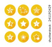 shiny gold star icons | Shutterstock .eps vector #241192429