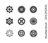 gear icons | Shutterstock .eps vector #241192441