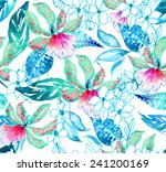 beautiful seamless large floral ... | Shutterstock . vector #241200169