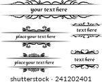 vector set  calligraphic design ... | Shutterstock .eps vector #241202401