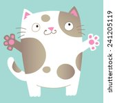 cute cartoon cat asking for a... | Shutterstock .eps vector #241205119