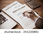 man analysis business accounting | Shutterstock . vector #241220881