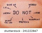 don't | Shutterstock . vector #241222867