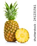 fresh pineapple fruits with cut ... | Shutterstock . vector #241231561