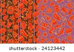 halloween patterns | Shutterstock .eps vector #24123442