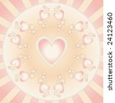 vector heart background | Shutterstock .eps vector #24123460