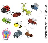 bug vector set | Shutterstock .eps vector #241236655