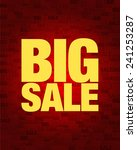big sale text on red gradient... | Shutterstock .eps vector #241253287