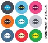 bonus sign icon. special offer...   Shutterstock .eps vector #241258021