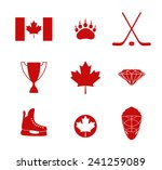 canada. icon set. vector... | Shutterstock .eps vector #241259089