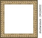 a picture gold frame on a white | Shutterstock . vector #24126322