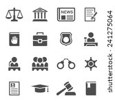 law icons set | Shutterstock . vector #241275064