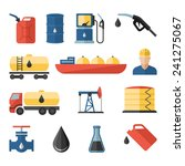 oil and petroleum icon set | Shutterstock . vector #241275067