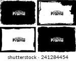 grunge frame set texture  ... | Shutterstock .eps vector #241284454