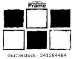 grunge frame set texture  ... | Shutterstock .eps vector #241284484