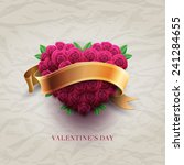vector retro valentine's day... | Shutterstock .eps vector #241284655