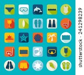 set of summer tourism icons | Shutterstock .eps vector #241298239