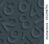 dark gray perforated paper with ... | Shutterstock .eps vector #241298791