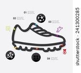 football infographic | Shutterstock .eps vector #241300285