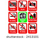 tourist attraction rules | Shutterstock .eps vector #2413101