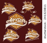 set of vintage sports all star... | Shutterstock .eps vector #241323811