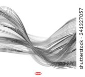 abstract black line grey wave... | Shutterstock .eps vector #241327057